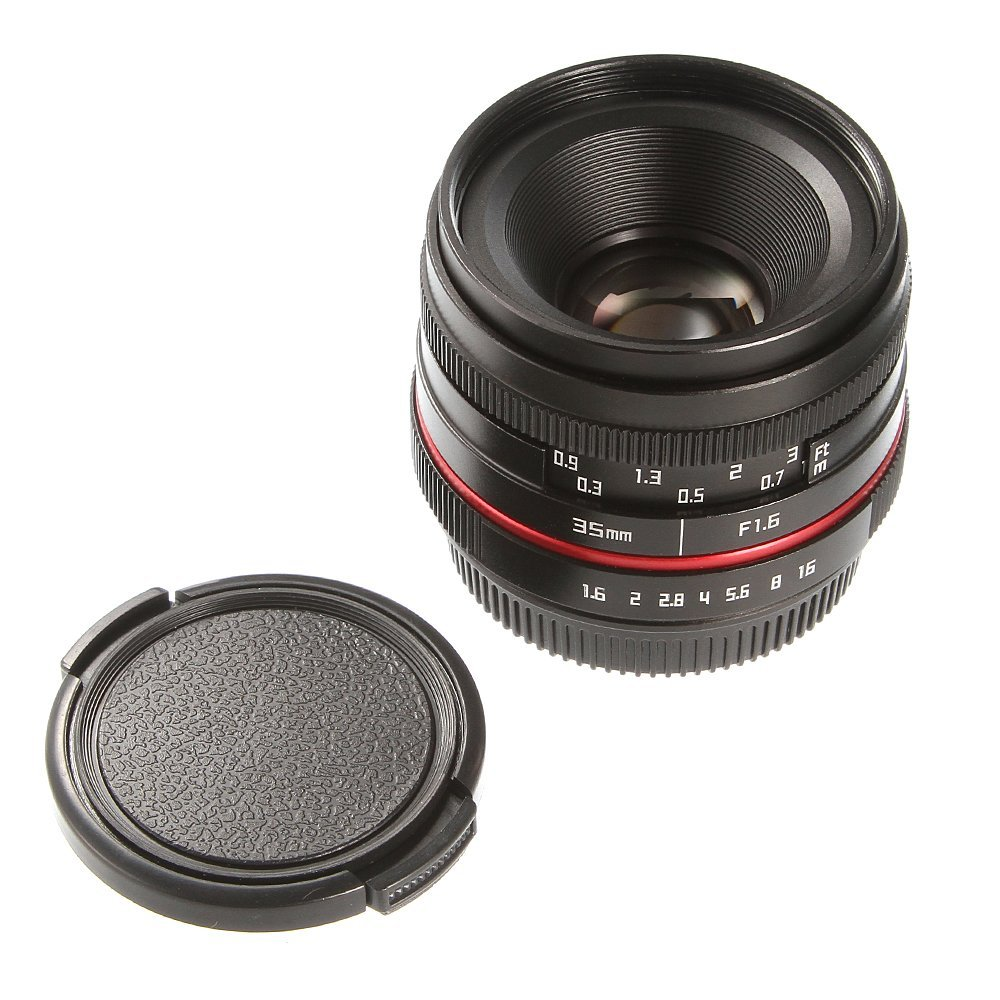 36mm F/1.6 Manual Focus MF Prime Lens for Canon Fujifilm Sony Panasonic Olympus Camera M5 M50 M100 XH1 XT2 XE3 A6500 NEX7 GH4 sony a6500