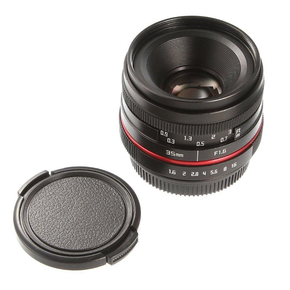 36mm F/1,6 de enfoque Manual MF primer lente para Canon Fujifilm Sony Panasonic cámara Olympus M5 M50 M100 XH1 XT2 XE3 A6500 NEX7 GH4