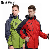 Be A Wolf Winter Heated Hiking Jackets Men Women Waterproof Outdoor Fishing Clothing Camping Skiing Rain