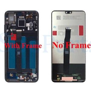 Image 3 - Dla Huawei P20 ekran LCD ekran dotykowy Digitizer zgromadzenie EML L29 L22 L09 AL00 dla Huawei P20 LCD z ramą części zamienne