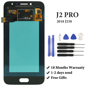 OEM For J2 Pro 2018 LCD Display AMOLED With Digitizer Touch Screen Assembly For J250 J250F LCD