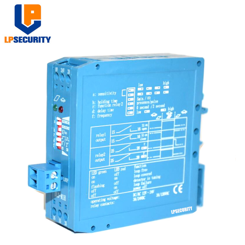 10pcs/Lot Blue Loop Detectors 12V 24VDC Vehicle / Car Detection Device Automatic Exit Gate Loop Detector