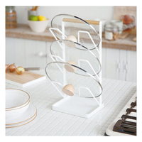 1PCS Useful Pot Lid Rack Stainless Steel Cutting Board Stand Pan Cover Storage Shelf Holder Kitchen Organizer Tools