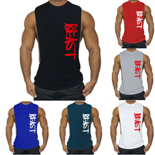Gym Clothing Men Tank Top Gym Sleeveless Shirt Tank Top Shirt Bodybuilding Sport Letter Vest Muscle Workout Tank Top Men Gym
