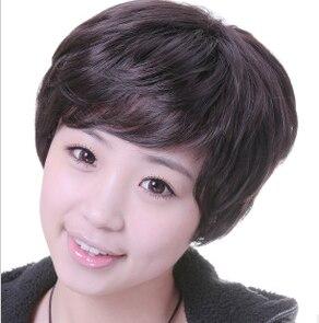 Wig fashion stubbiness women's elegant quinquagenarian wig