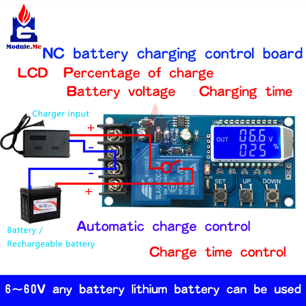 Xy L30a Nc Battery Charging Control Module Digital Full Power Off Solar Charger With Overcharge Protection Electronic Switch 6 60 V Lcd Display In Integrated Circuits From