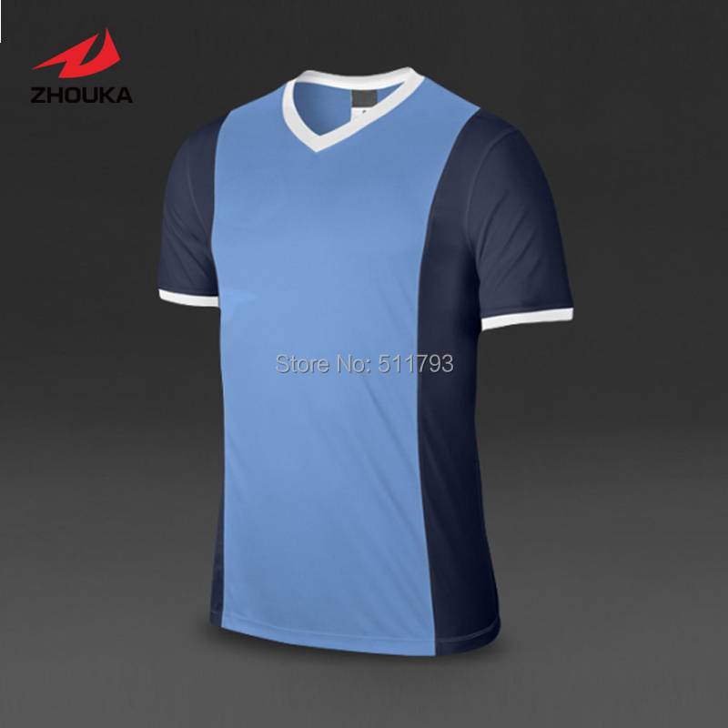 Accept small quantity Custom Soccer Jersey tops Short-sleeve Dry fit Top quality Adult Kids V-neck 100%polyester hot sales 2017 aaa top best qualit ajax adult kit short sleeve soccer jersey 16 17 home red away black free shipping
