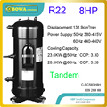 8P scroll hermetic compressors with oil balance pipe is easy to combine in different capacity according to load design