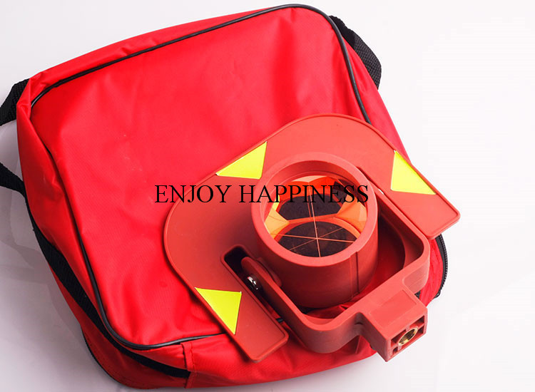 Replace Gpr111 Red Color Prism For Leica Total Stations single prism with soft bag for leica type total stations