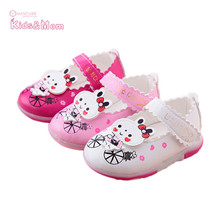 High Quality Kids Girls Shoe First Walker PU Leather Shoes Chidlren Shoe Soft Bottom Toddler Shoes Baby Schoenen