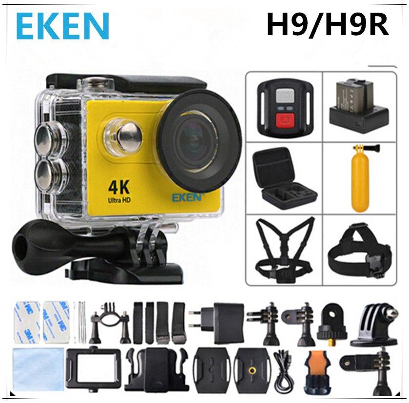 Original EKEN H9/H9R Cámara de Acción WiFi Ultra HD 4 K/25fps Dual Mando a dista