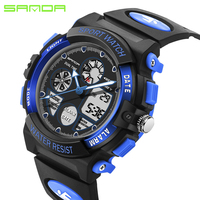 2017 New SANDA Outdoor Sports Watches Fashion LED Quartz Digital Watch Boys Girls Kids Waterproof Wristwatches