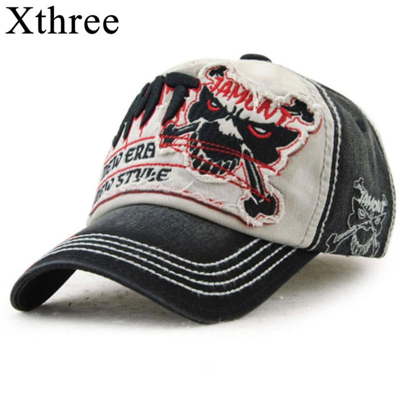 Xthree baumwolle fasion Freizeit baseball kappe Hut für männer Hysterese hut casquette frauen kappe großhandel mode Zubehör