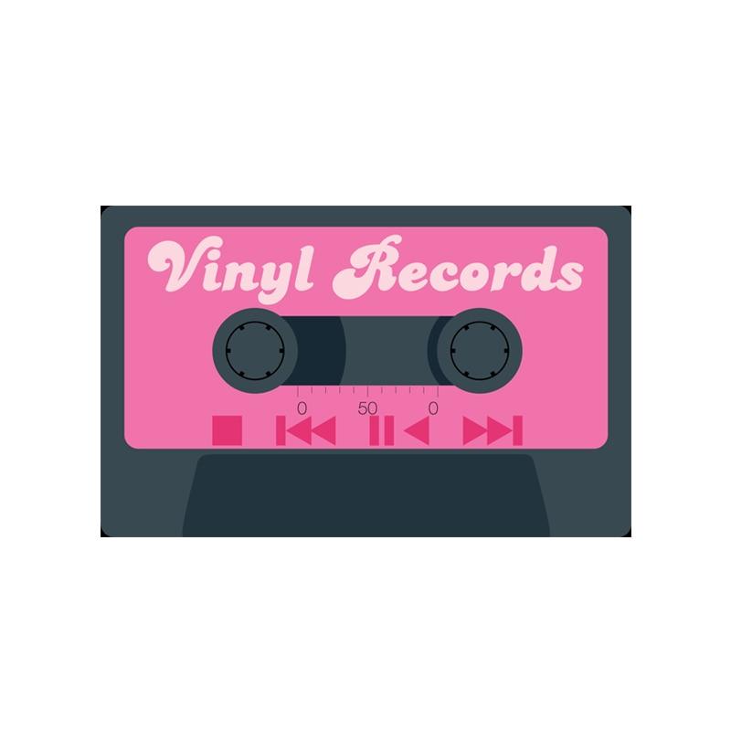 MDCT Retro Tape Record Printed Floor Mats Hallway Chair Sofa Bedroom ...