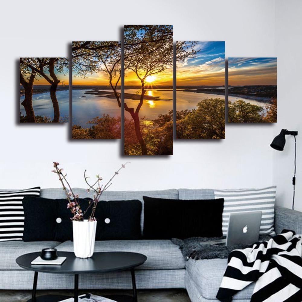 Modern Print oil painting art London bridge Abstract Art canvas Home Decor GB100