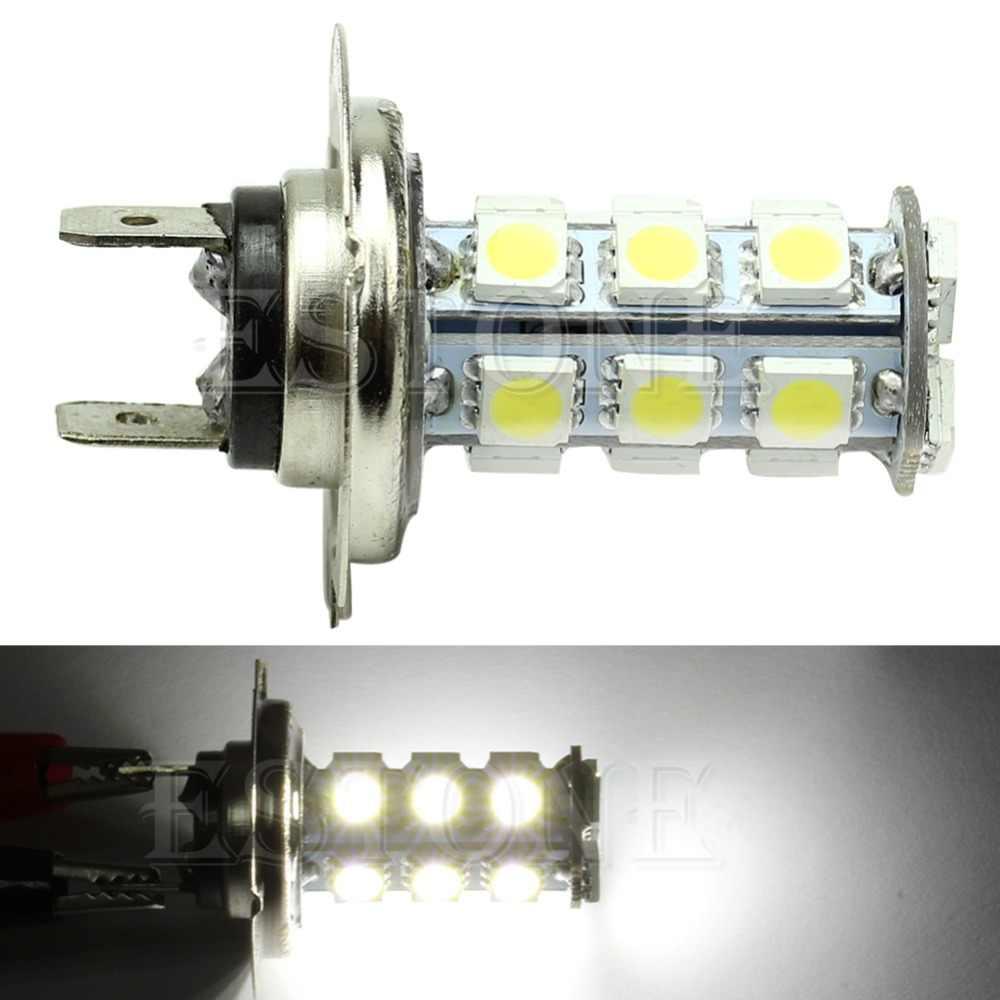 H7 5050 18-SMD LED سيارة بيضاء نقية لمبات الضباب مصباح القيادة