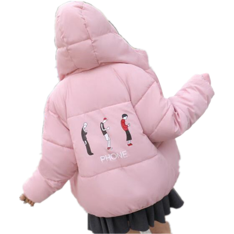 New   parka   women 2019 Winter Jacket Women Coats Hooded Ladies Coats Female Thick Cotton Padded Jacket Two Sides Wear G091