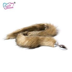 Анальная пробка «лисий хвост» Sweet Dream, искусственная, 70 см, длинная, с хвостом животного, Металлические анальные игрушки для ролевых игр, секс-игрушки для женщин, DW-010