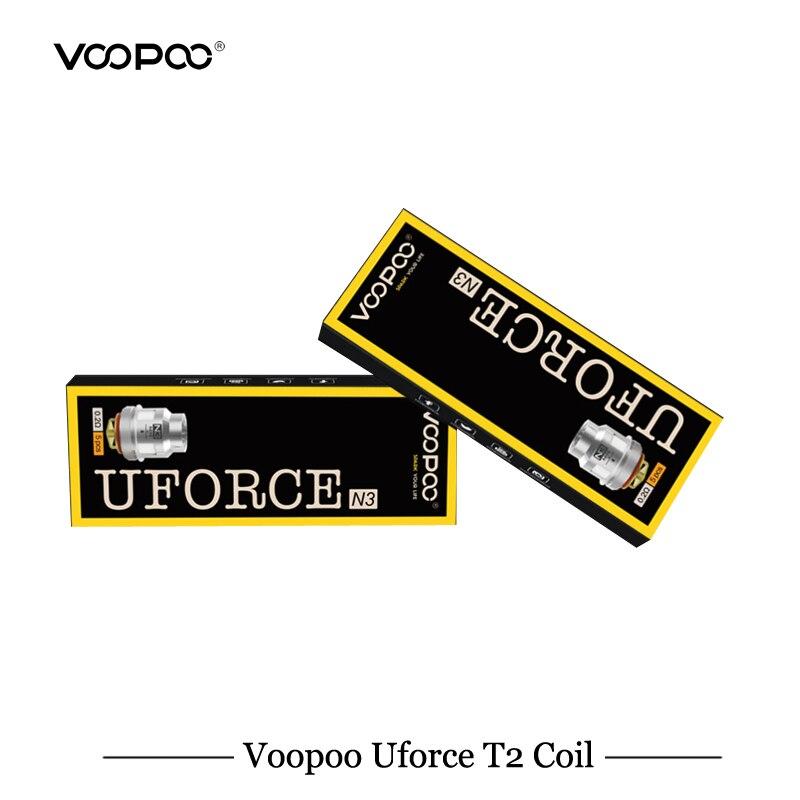 5 unids/lote VOOPOO UFORCE T2 bobina Voopoo arrastrar Kit de Voopoo arrastrar Mini Kit bobina U2/U4/U6 /U8/N1/N2/N3/R1/D4/P2 de malla de bobina