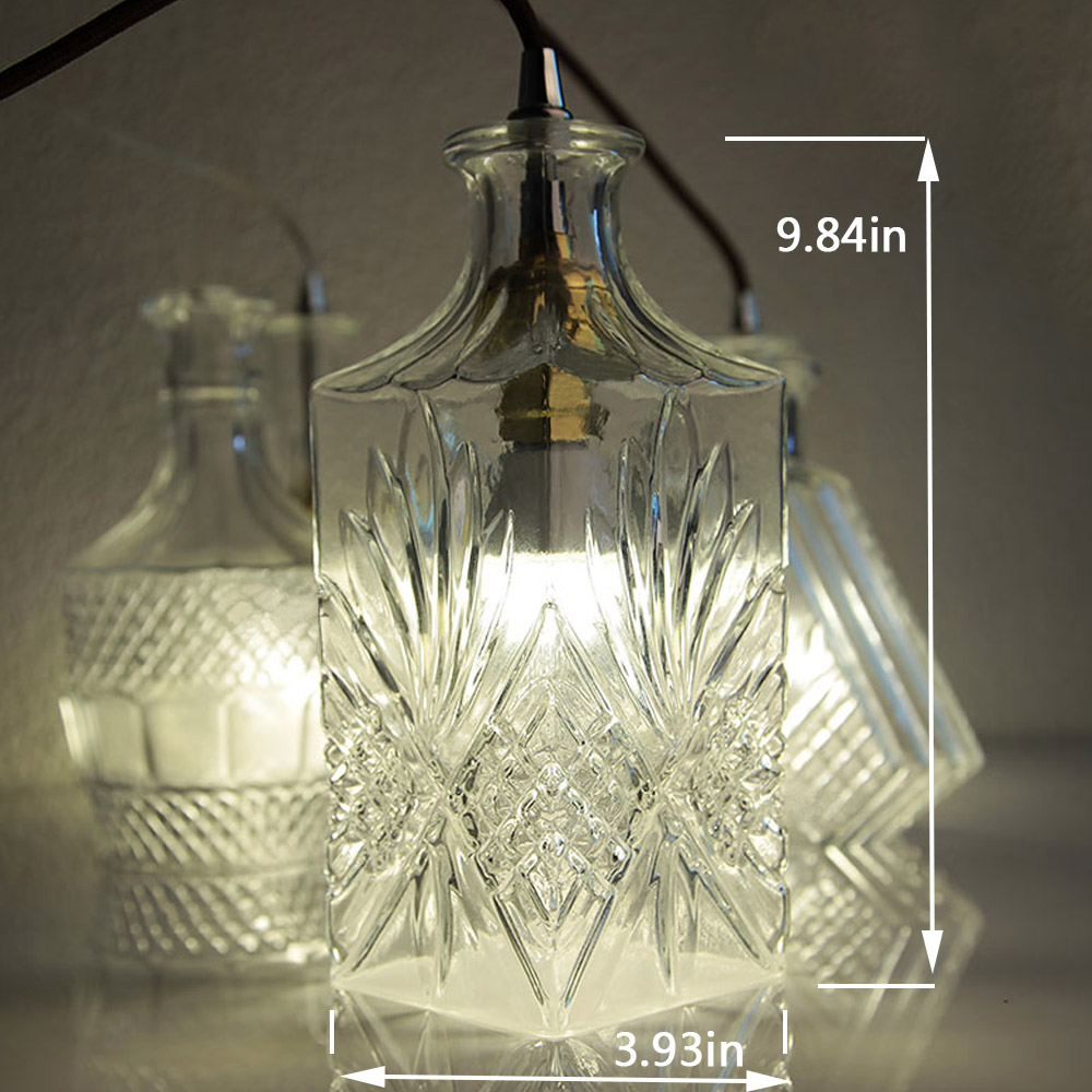 Holigoo Modern Glass Pendant Lamp Nordic Dining Room Wine Bottle Light Kitchen Lighting Fixture Restaurant Hanging In Lights From