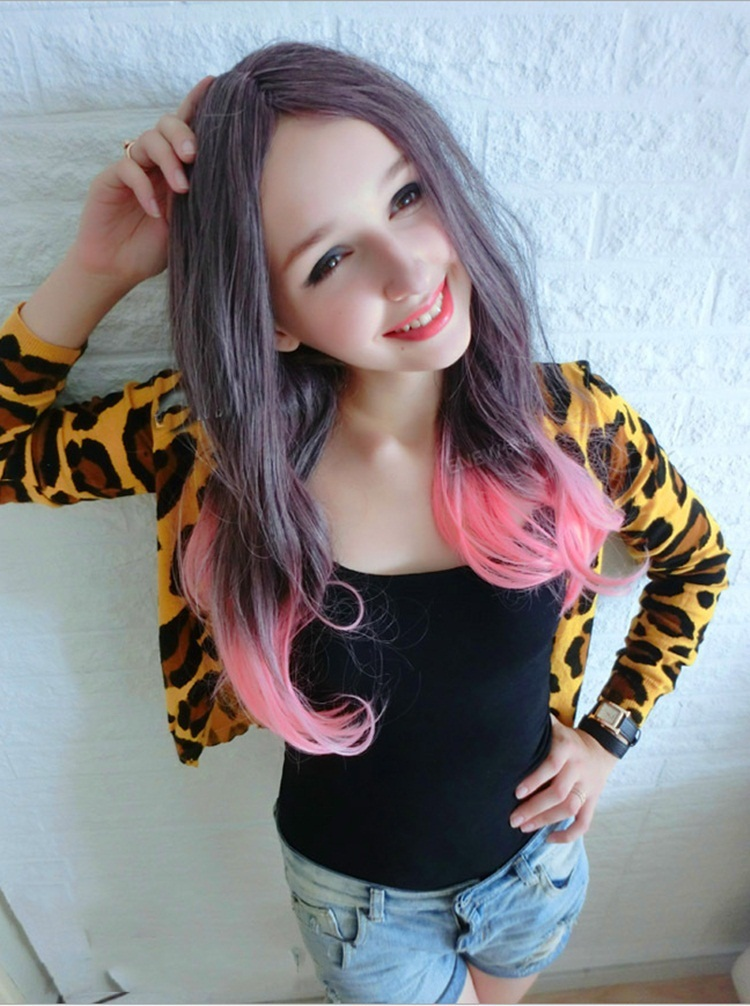 Black Hair With Light Pink Highlights Find Your Perfect Hair Style