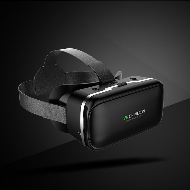 VR Shinecon 6.0 Casque Virtual Reality Glasses 3 D 3d Goggles Headset Helmet For Smartphone Smart Phone Google Cardboard Len 1