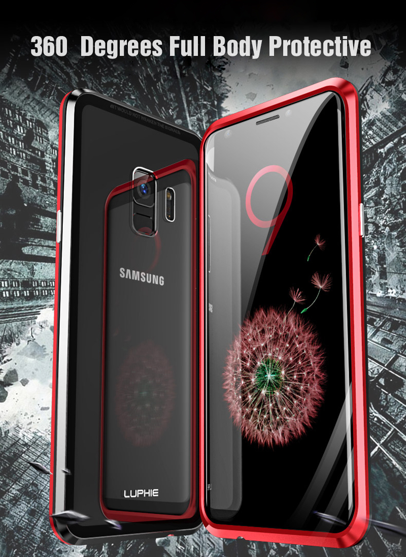 Metal Armour Case For Samsung Galaxy Phones, magnetic adsorption case for Samsung galaxy phones, Metal magnetic case for samsung phones
