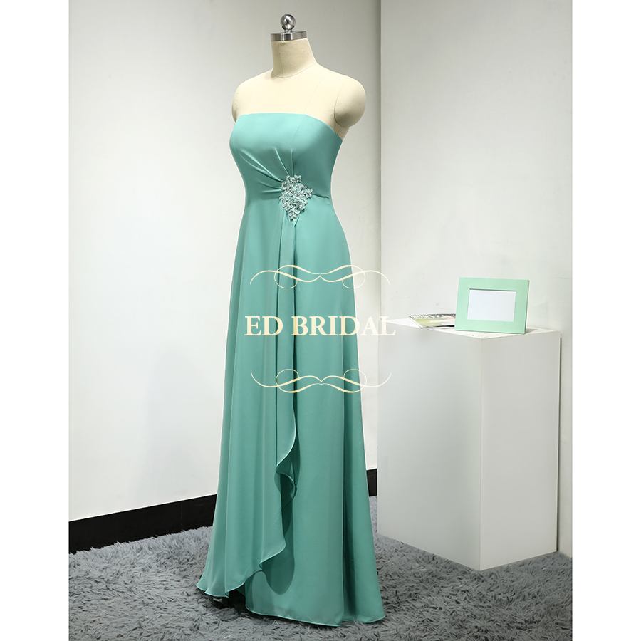 Aliexpress buy custom made strapless chiffon mint green aliexpress buy custom made strapless chiffon mint green bridesmaid dress long party gown maid of honor dress robe demoiselle dhonneur from reliable ombrellifo Choice Image