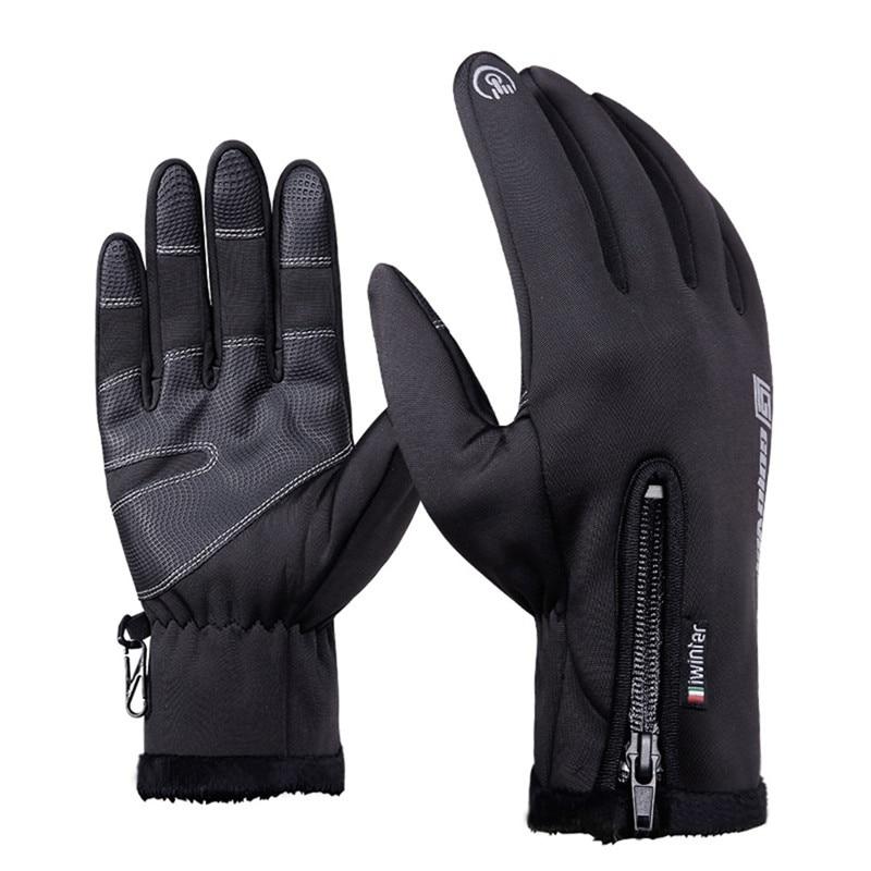 На открытом воздухе с флисовой подкладкой 5 пальцами; Термальность перчатки Водонепроницаемый ветрозащитные касание Экран для сноуборда п...