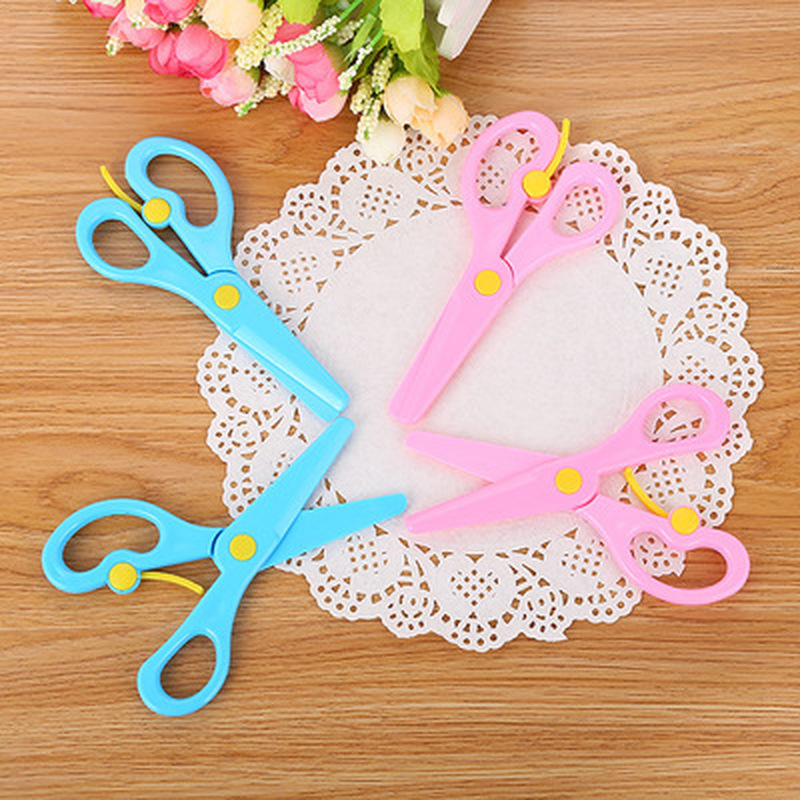 1pcs Candy Color Scissors Novelty Stationery Craft Scissors Cute Student Safety Hand Shear Crafts Kids Kindergarten Supplies