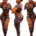 2017 summer women Hot fashion short sleeve jumpsuit women sexy print rompers MC5223