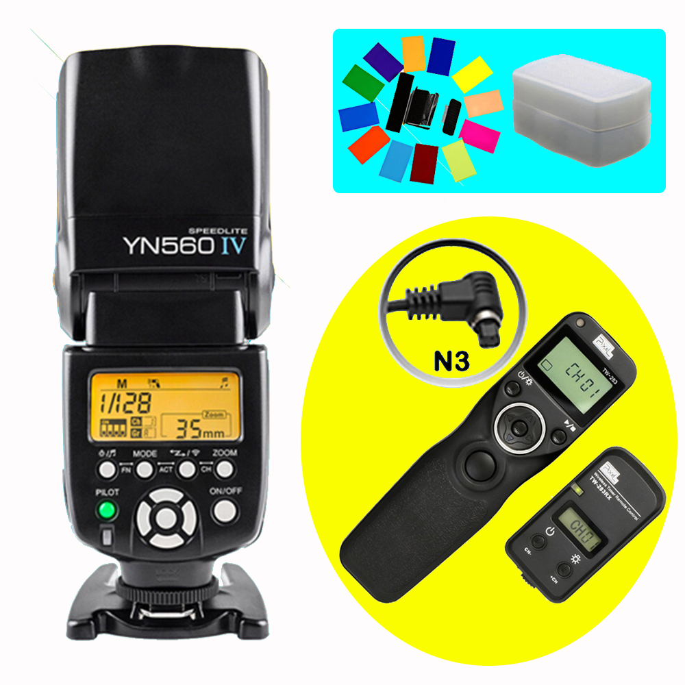 YONGNUO YN560 IV YN-560 IV Flash Speedlite & Pixel TW-283 N3 Shutter Release For Canon 10D 20D 30D 40D 50D 5D3 5D2 1D 7D3 6D 7D2 bp 511 bp511 camera battery 1x charger for canon eos 30d 20d 10d 300d d60