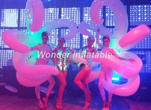 2m adult white inflatable wing costume with led attractive inflatable performance costume for events inflatable model toy inflatable beverage bottle 2m inflatable beer can wine barrel with full digital print for adversting