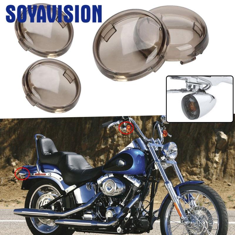 ABS Turn Signal Light Lens Cover For Harley Dyna Softail Heritage Rocker V-Rod