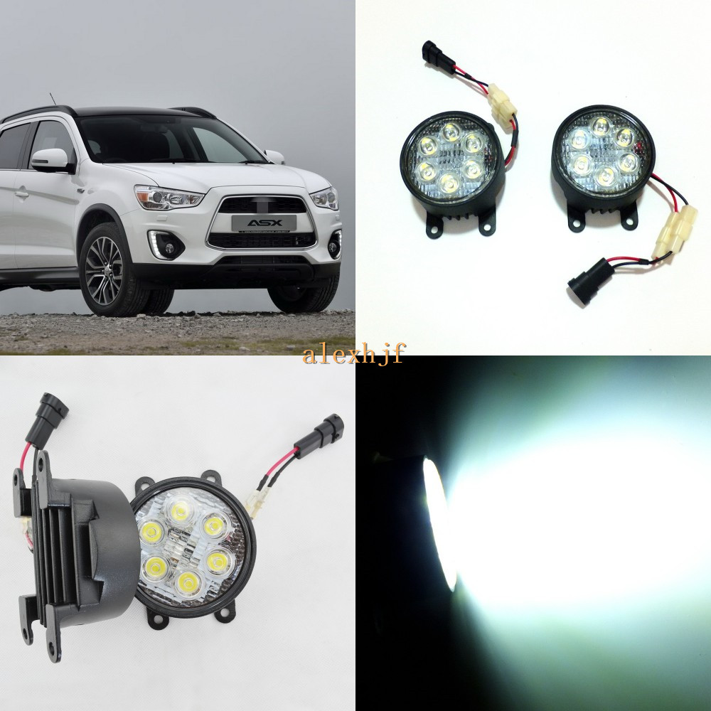 ФОТО July King 18W 6LEDs H11 LED Fog Lamp Assembly Case for Mitsubishi ASX 2010~ON etc, 6500K 1260LM LED Daytime Running Lights