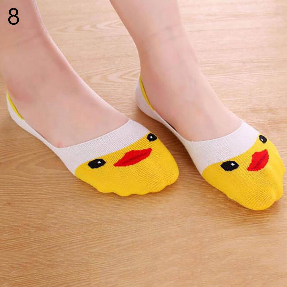 10 Pairs Womens Loafer Invisible Nonslip Liner Low Cut Cotton Animal Boat Socks