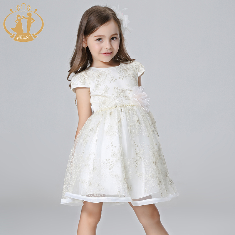 Nimble New Summer Dresses for Flower Girls Embroidery baby dress for wedding  party elegant school kids dress -in Dresses from Mother   Kids 5b6e4a7da6b5