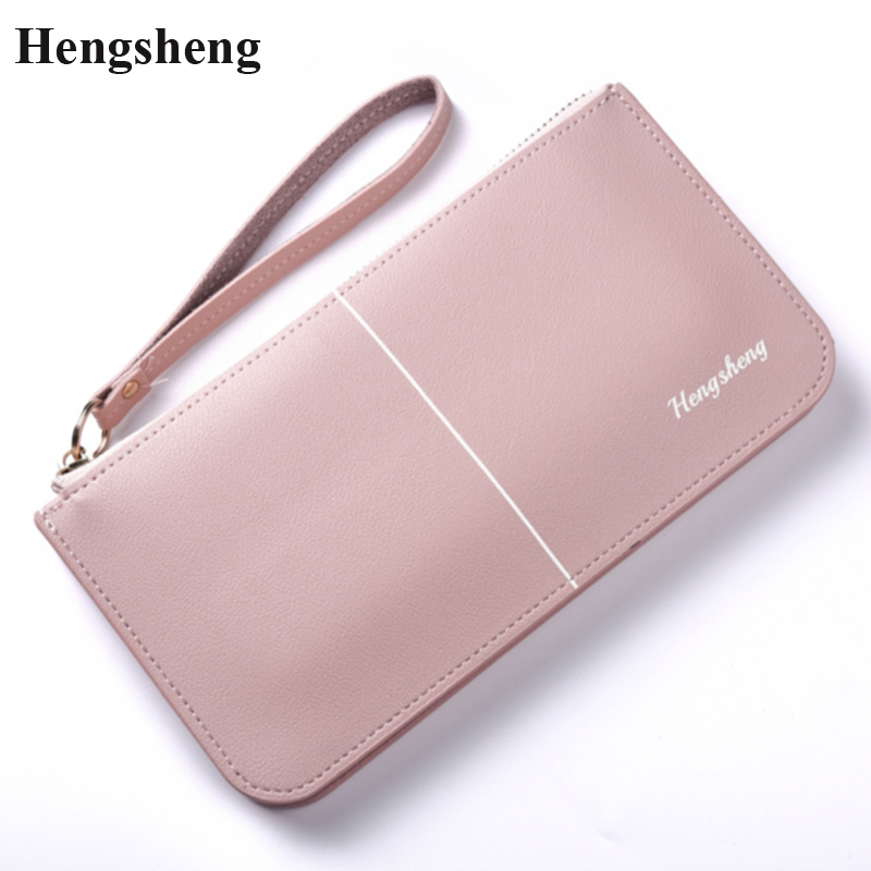 New Designer Leather Phone Wallets Women Brand Long Zipper Coin Purses Female Clutch Wristlet Bags Gift Money Credit Card Holder large capacity women wallet leather card coin holder money clip long clutch phone wristlet trifold zipper cash female purse
