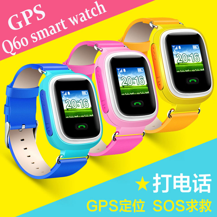 2016 New Kid GPS Smart Watch Wristwatch SOS Call Location Device Tracker for Kid Safe Anti Lost Monitor Baby Gift Q90 Q80 Q60 wireless service call bell system popular in restaurant ce passed 433 92mhz full equipment watch pager 1 watch 7 call button
