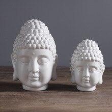 home decoration accessories Buddha statue head Zen porch living room TV cabinet creative soft decorations