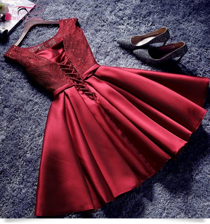 405edb8402d Burgundy Bridesmaid Dresses Short Knee Length Elegant Dress Women For Wedding  Party New Years Eve Dress JQ29-in Bridesmaid Dresses from Weddings   Events  on ...