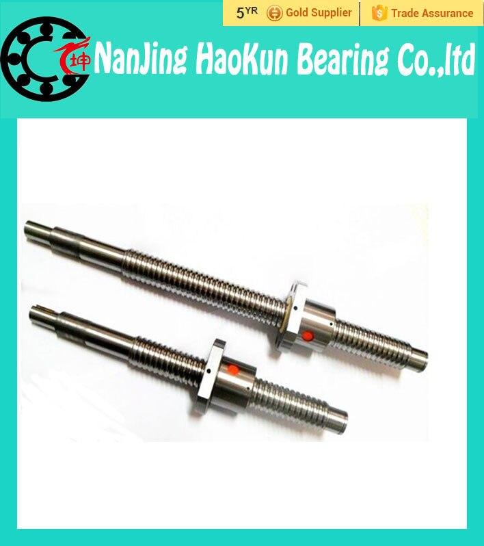 ФОТО RM1605  Ball Screw 2pcs SFU1605 L= 1150mm Rolled 1605 Ballscrew with 2pcs single Ballnut for CNC parts
