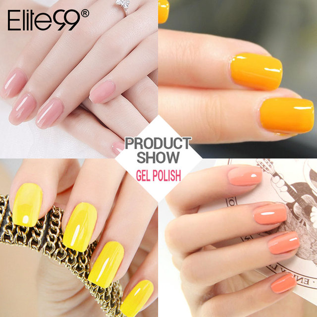 Elite99 Neue Gelb Series Gel Polish Nagel Gel Soak Off UV Gel Polnischen Wählen Jede 1 Farbe Nagel Gel Lack 24 farben