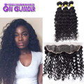 Cheap Malaysian Full Frontal Lace Closure 13x4 With Bundles Deep Curly Lace Frontal Closure With Bundles Virgin Human Hair Weave