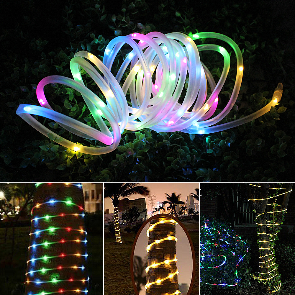 7M 12M Garden Solar Garland Lighting LED String Fairy Lights Outdoor Christmas Light Chain Decoration Waterproof For Holiday