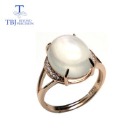 TBJ,quality Mop mother of pearl and white moonstone natual gemstone ring 925 sterling silver for women daily wear with gift box