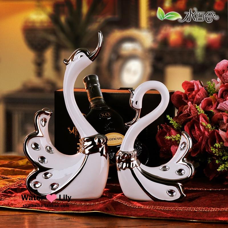 Swan Wedding Gift Return: New Arrival Wedding Home Use Ceramic Lovers Swan