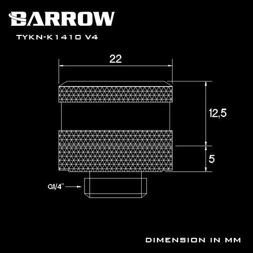 Купить с кэшбэком BARROW Hand Compression OD12mm/OD14mm/OD16mm Hard Tube Fitting Water Cooling Metal Connector Fitting G1/4'' Thread TEPG Acrylic
