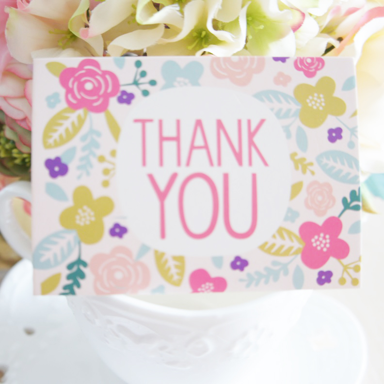 50pcs mini thank you card flower garland leave message cards lucky 50pcs mini thank you card flower garland leave message cards lucky love valentine christmas party invitation letter in cards invitations from home stopboris Choice Image