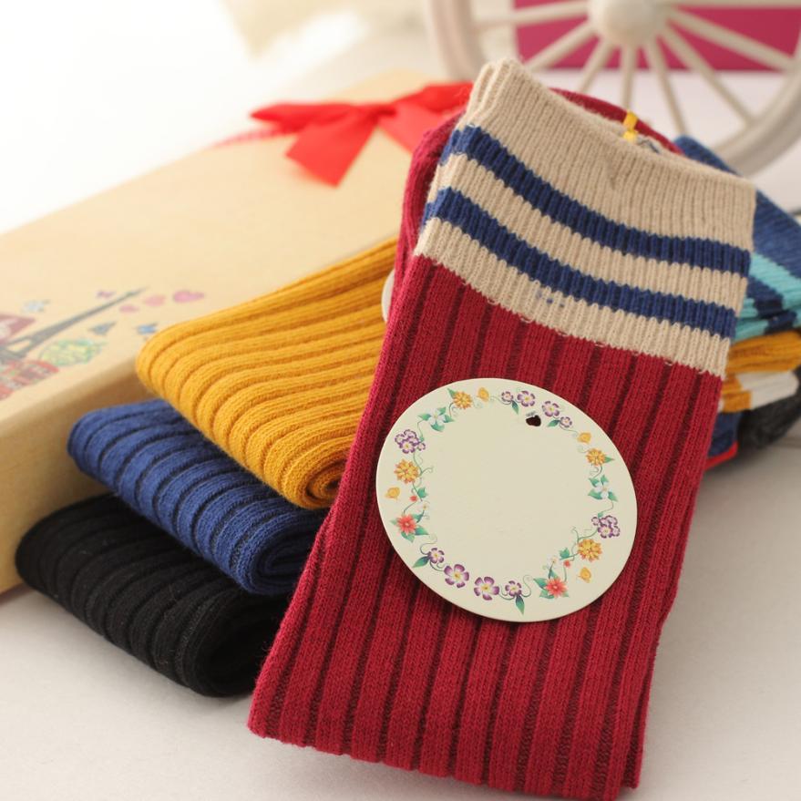 Mooistar #4022D 1 Pairs Cotton Cartoon Medium Solid Socks For Baby Boys Girls Toddler Kids